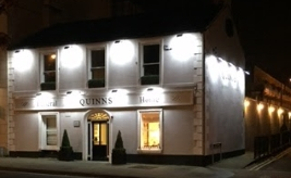 Quinns of Glasthule Funeral Directors – Funeral Home Outside at Night