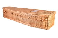 Hand Woven Wicker Coffin From Quinns of Glasthule Funeral Home Directors