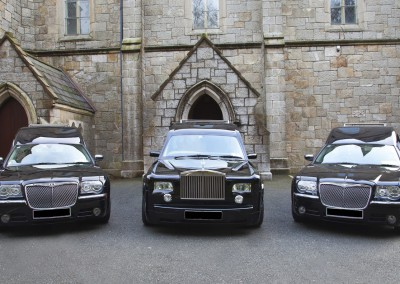 Hearses & Limousines provided by Quinns of Glasthule Funeral Home