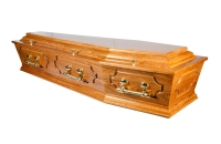 Premier Range Cathedral Hampton Coffin From Quinns of Glasthule Funeral Home Directors