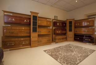 Quinns of Glasthule – Funeral Home Coffins Viewing Area
