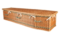 Traditional Cane Hand Made Coffin From Quinns of Glasthule Funeral Home Directors